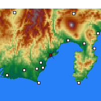 Nearby Forecast Locations - Shizuoka - Carte