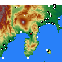 Nearby Forecast Locations - Mishima - Carte