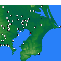 Nearby Forecast Locations - Chiba - Carte