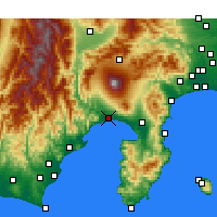 Nearby Forecast Locations - Fuji - Carte