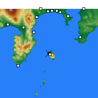 Nearby Forecast Locations - Oshima (Aéroport) - Carte