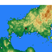 Nearby Forecast Locations - Yamaguchi - Carte
