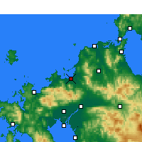 Nearby Forecast Locations - Fukuoka - Carte