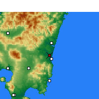 Nearby Forecast Locations - Miyazaki - Carte