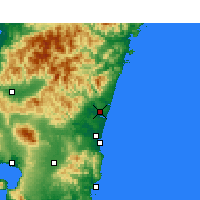 Nearby Forecast Locations - Nyutabaru - Carte