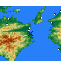 Nearby Forecast Locations - Komatsushima - Carte