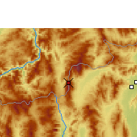 Nearby Forecast Locations - Doi Ang Khang - Carte