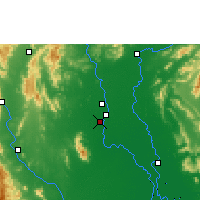 Nearby Forecast Locations - Sukhothaï - Carte