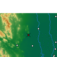 Nearby Forecast Locations - U Thong Agromet - Carte