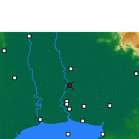 Nearby Forecast Locations - Bangkok - Carte