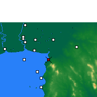 Nearby Forecast Locations - Chonburi - Carte
