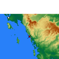 Nearby Forecast Locations - Khlong Yai - Carte