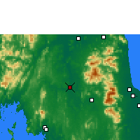Nearby Forecast Locations - Phrasang - Carte
