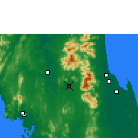 Nearby Forecast Locations - Chawang - Carte