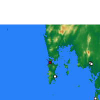 Nearby Forecast Locations - Phuket (Aéroport international) - Carte
