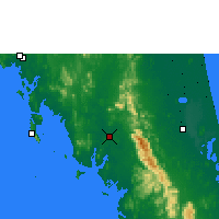 Nearby Forecast Locations - Trang - Carte