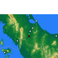Nearby Forecast Locations - Sa Dao - Carte