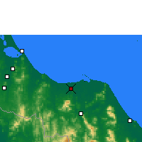 Nearby Forecast Locations - Pattani - Carte
