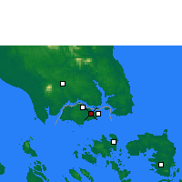 Nearby Forecast Locations - Singapour/Paya - Carte