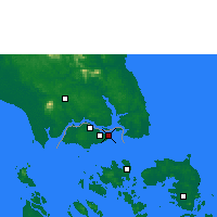 Nearby Forecast Locations - Singapour - Carte