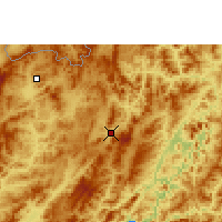 Nearby Forecast Locations - Oudomxay - Carte