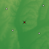 Nearby Forecast Locations - Xian de Wangkui - Carte
