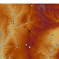 Nearby Forecast Locations - Zhongyang - Carte