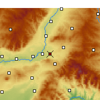 Nearby Forecast Locations - Quwo - Carte