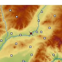 Nearby Forecast Locations - Xinjiang - Carte