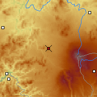 Nearby Forecast Locations - Donggang - Carte