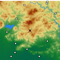 Nearby Forecast Locations - Xinglong - Carte