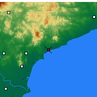 Nearby Forecast Locations - Qinhuangdao - Carte