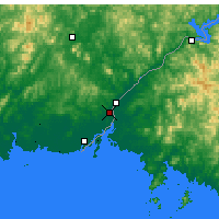 Nearby Forecast Locations - Dandong - Carte