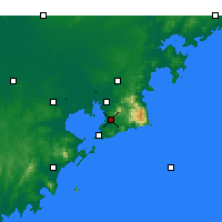 Nearby Forecast Locations - Laoshan - Carte
