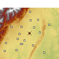 Nearby Forecast Locations - Xindu - Carte