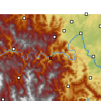Nearby Forecast Locations - Ebian - Carte