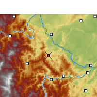 Nearby Forecast Locations - Muchuan - Carte