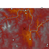 Nearby Forecast Locations - Yongren - Carte