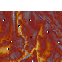 Nearby Forecast Locations - Shidian - Carte