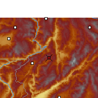 Nearby Forecast Locations - Yongde - Carte