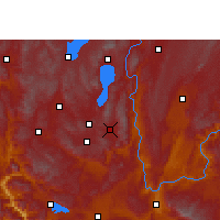 Nearby Forecast Locations - Huaning - Carte