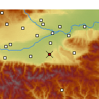 Nearby Forecast Locations - Chang'an - Carte
