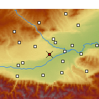 Nearby Forecast Locations - Xianyang - Carte