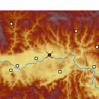Nearby Forecast Locations - Yang Xian - Carte