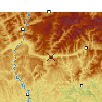 Nearby Forecast Locations - Xian de Wangcang - Carte