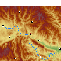 Nearby Forecast Locations - Shiquan - Carte