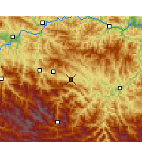 Nearby Forecast Locations - Zhuxi - Carte