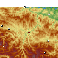 Nearby Forecast Locations - Zhushan - Carte