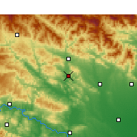 Nearby Forecast Locations - Xichuan - Carte