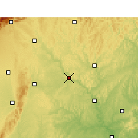 Nearby Forecast Locations - Santai - Carte